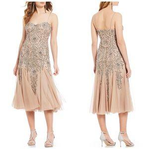 Gianni Bini Jane Beaded Flounce Midi Dress